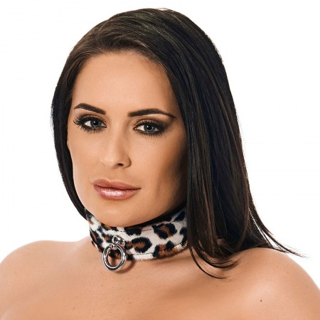 Animal Print Leather Collar